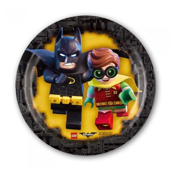 8 PLATOS LEGO BATMAN 18 CM
