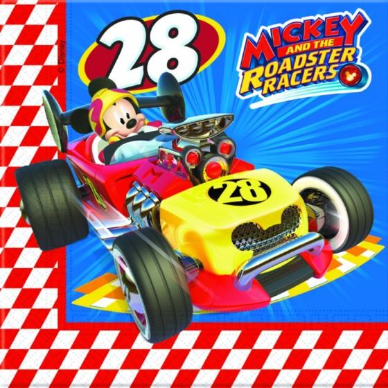 20 SERVILLETAS MICKEY RACERS