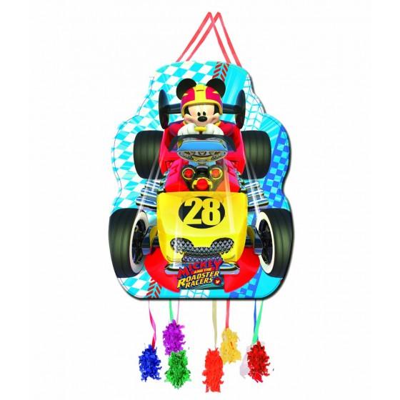 PIÑATA PERFIL MICKEY RACERS 33X46