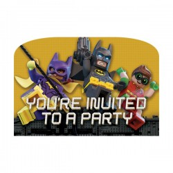 8 INVITACIONES LEGO BATMAN