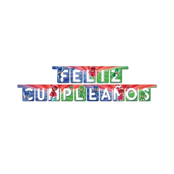 GUIRNALDA FELIZ CUMPLEAÑOS PJMASKS