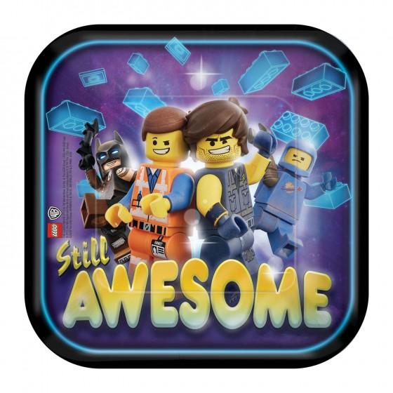 8 PLATOS LEGO MOVIE 18 CM