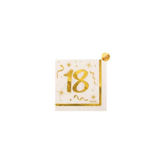 16 SERVILLETAS 18 DORADO 33X33