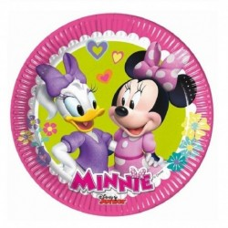 8 PLATOS 20 CM MINNIE MOUSE