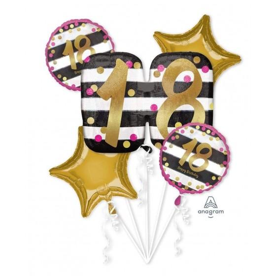 BOUQUET 18 BIRTHDAY ROSA Y...