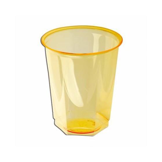 VASOS AMARILLOS GLASS 250 CC