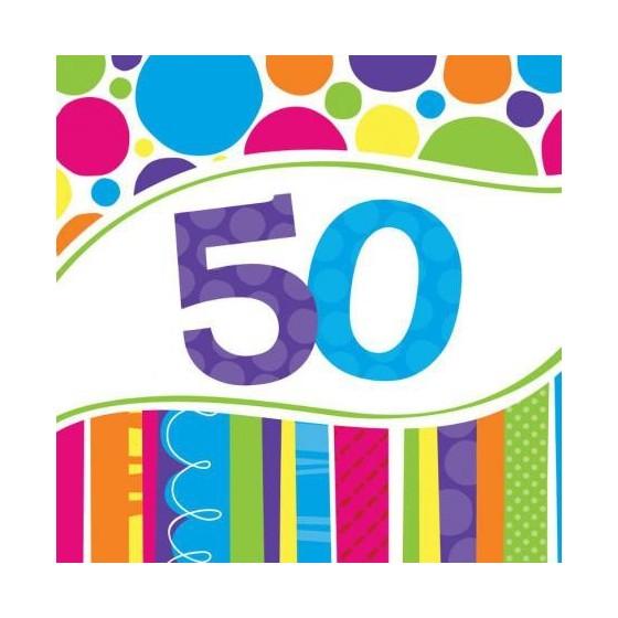SERVILLETAS 50 CUMPLEAÑOS