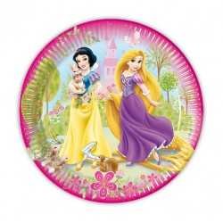 8 PLATOS PRINCESAS DISNEY 18CM