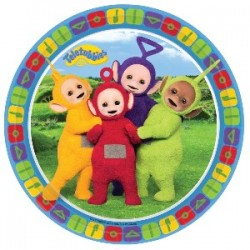 8 PLATOS TELETUBBIES 23 CM
