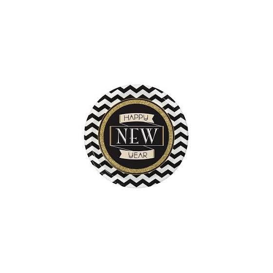 8 PLATOS HAPPY NEW YEAR 22.2 CM